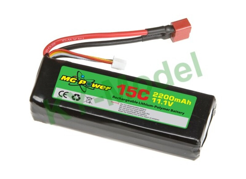 MG Power Battery (11.1V 15C 2200mAh) фото 1