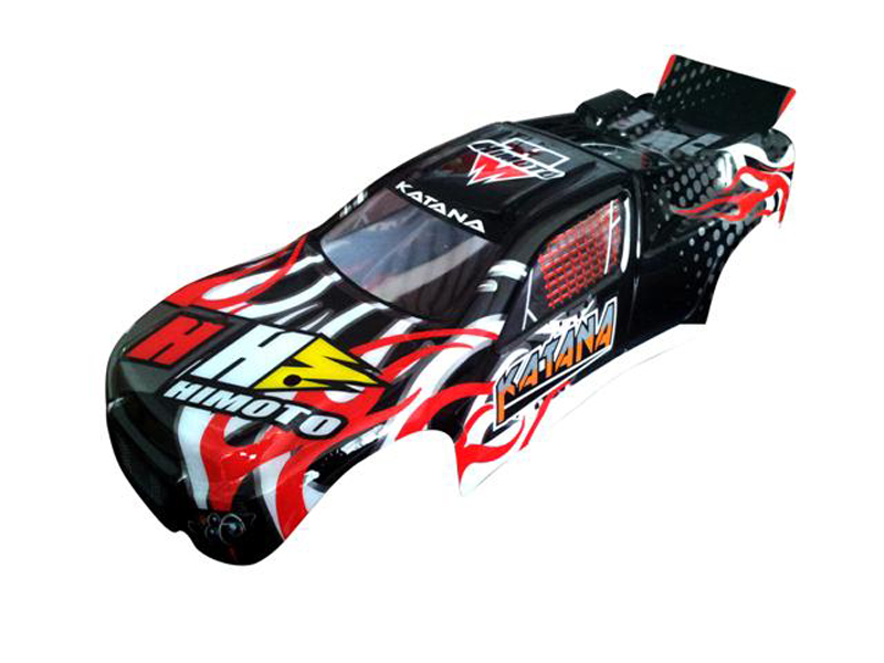 31507 1:10 Truggy Car Body Black 1P фото 1