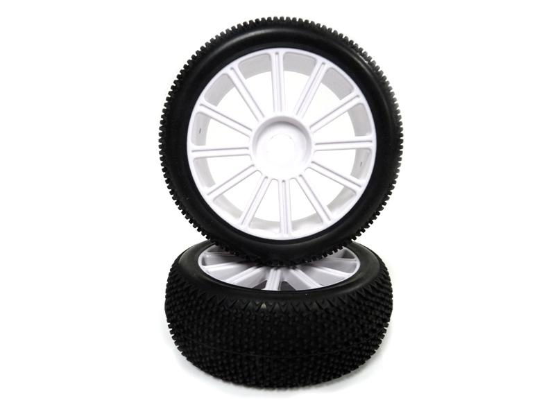 1:8 White Rim & Tire Complete For Buggy (821001W+821002) 2P фото 1