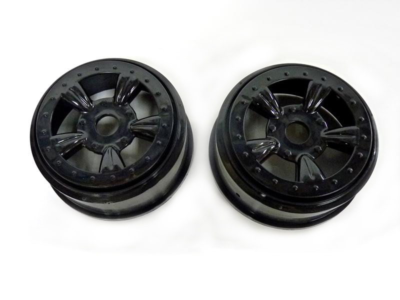 (8E132BL) Black Rims For Short Course Truck 2P фото 1