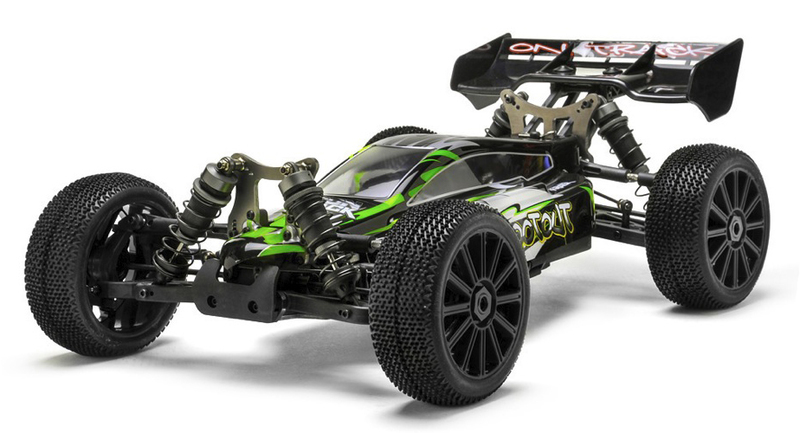 Багги 1:8 Himoto Shootout MegaE8XBL Brushless (зеленый) фото 1