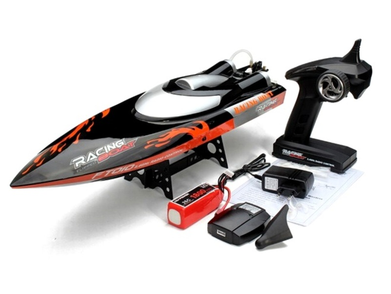 Катер на р/у 2.4GHz Fei Lun FT010 Racing Boat 65см (черный) фото 5