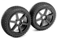 Team Magic B8 Pre-mounted Tires 6 Spokes Black 2p