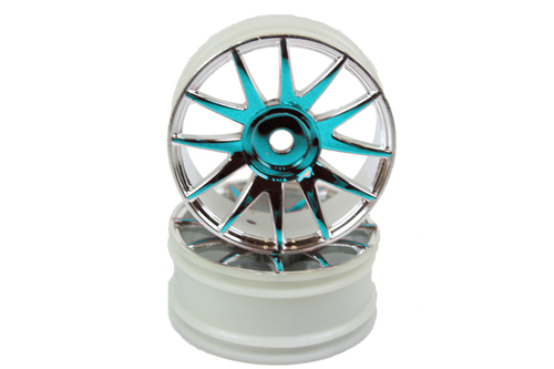 Blue Chrome Wheel Rims 2P