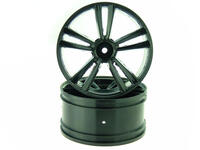 Rear Black Rims 2P