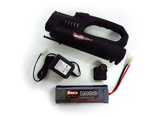 B7026S1 Estarter Combo Set For 1:10 Nitro Gas Car Estarter w/Drillplate, 7.2V 2000mAH Battery, and C